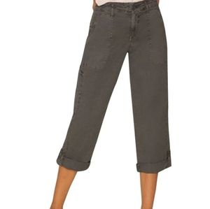 NWT Gray SANCTUARY Crooped Utility Cargo Pants